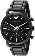 Emporio Armani  AR1895 Black / Black Stainless Steel Analog Quartz Men's Watch