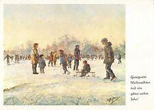BT3743 auf der Eisbahn fussgemalt von pieter moleveld paint postcard