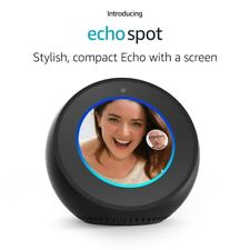 Amazon Echo Spot Smart Speaker & Alexa Voice Recognition & Control, Black NEW !!