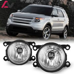 For Ford Explorer 11-15 Clear Lens Pair Bumper Fog Light Lamp OE Replacement DOT