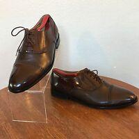 Giorgio Brutini Men's Cap Toe Brown Oxfords Leather Dress Shoes 10 D (M)    DS11