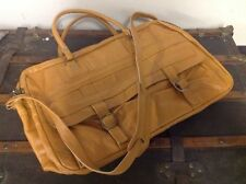 Vintage 70s Leather Duffle Carry On  Luggage Weekend Travel Overnight