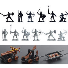 14pcs Knights Medieval Catapult Soldiers Figures Playset Plastic Toys