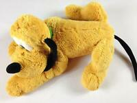 """Disney Store Pluto Dog Large 16"""" Plush Stamped Patch Beans Cuddly Collar Soft"""