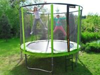 Trampoline 10ft 2in1 Internal Safety Net + Ladder Spring Cover Pad Tool 304c