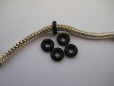 Black Rubber stoppers for clip beads on European Bracelets (and other uses)