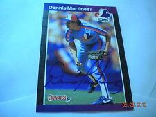 1989 DONRUSS  #106 DENNIS MARTINEZ autographed card