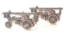Steam Roller Hand Made Pewter Cufflinks (N42) Gift Boxed
