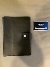 NWOT $195 SHINOLA Detroit Med Spruce Leather Journal Ipad Mini Cover Made In USA