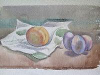 30x26cm Bild Malerei Derartige Aquarell Stillleben Maler G.Pancaldi Modena P14