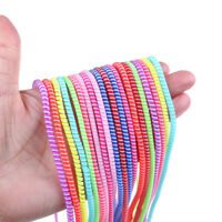 20pcs Colorful spiral USB data charging cable cord wrap protector winder MW