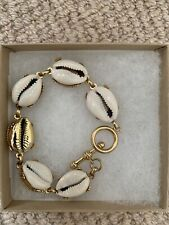 Shell Gold Bracelet Gimaguas Hippy Boho Brinker & Eliza All Summer Long Cowrie