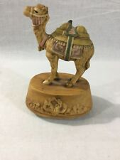 "Ceramic Camel Wind up Music Box Carousel - 5 1/2"" Tall"