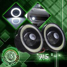 Pair 2.5'' 20W Car White Halo Angel Eyes Rings Projector COB LED Fog Light DRL