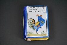 Antique French Faience Book Hand Warmer or Flask
