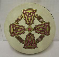 "IRELAND Irish MUSIC 12"" KILKENY CROSS Bodhran Drum Beater & DVD PACK"