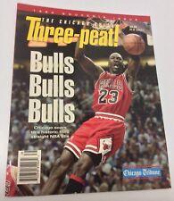 "The Chicago Bulls Michael Jordan 1993 Souvenir Issue ""THREE-PEAT"" Magazine"