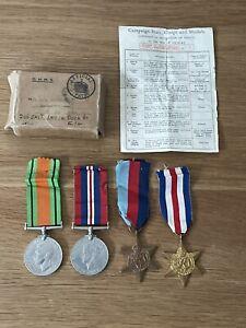 Old Original WW2 Medals War Defence 1939-45 Star France & Germany Box
