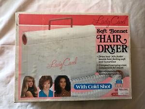 Lady Carel Hair Dryer Soft Bonnet Cold Shot Model 61501 Original Box Tested