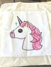 Unicorn Cute Cartoon Print Cushion Cover  Home Decor Novelty Fun Hidden zip