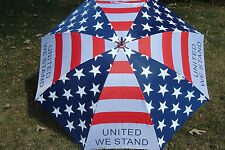 American Flag golf umbrella United We Stand 60 inch