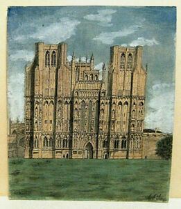 circa 1970`s ?, watercolour, Wells Cathedral (Wales) by C.S.Tooze