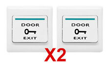 TWO Door Push to Exit Button Switches for Access Control Door Lock -US SELLER