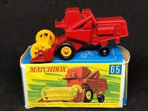 *HTF Matchbox MB65 A1 Claas Combine Harvester 4 Line & Hole Base & Type B Box