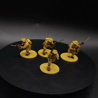 Painted 28mm bolt action British 8th army HQ (officer and 3 assistants) ww2
