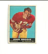1961 Topps JOHN BRODIE ROOKIE Card #59