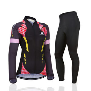 Womens Cycling Jersey Sets Long Sleeve Jersey & Pants Cycling Clothing Long Sets