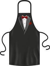 Kochschürze Männer Smoking Fliege rot Partyschürze lustige Grillschürze Geschenk