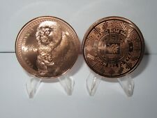 Year Of The Monkey - Lot of 2 Copper Rounds .999