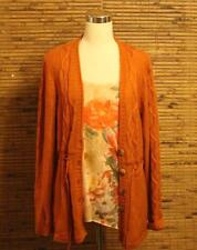 2 Piece Set Sweater and Jane Ashley Shirt Size L Orange Rust Large