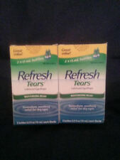2X Refresh Tears ®, Lubricant Eye Drops, 4 Bottles .5 fl oz (15 ml) Exp 2019