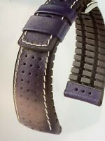 HIRSCH TIGER GOLF ACTIVE PERFORATED CALFSKIN 24MM WATCH BAND CAOUTCHOUC CORE