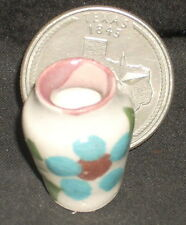 Vase, Folk Art Flower Painted Mexican Ceramic 1:12 TC405-1D Garden Patio Mantle