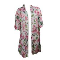 SHOW ME YOUR MUMU White Pink Floral Kimono Womens One Size
