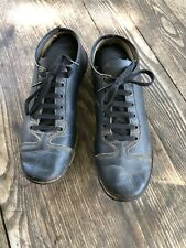Vintage Antique Black Size 8 1/2 Baseball Cleats Shoes Spikes Old