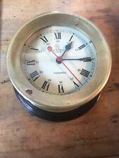 Emory & Douglas Co Ltd Brass Ship's Bulkhead Clock Works!