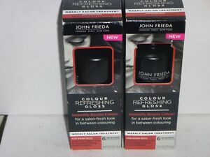 (2 pack) John Frieda Colour Refreshing Gloss, for Warm Reds, 6 oz
