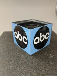 ABC TV Network Television Logo Mic Flag Cube -- Classic Blue ABC Logo