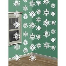 6' x 7' Shimmer Frozen Foil Snowflake String Christmas Party Decoration - 67015