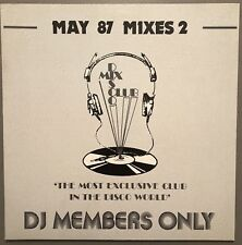 MAY 87 MIXES 2 DISCO MIX CLUB DMC DJ MEMBERS ONLY UK VINYL