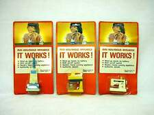 White Knob Wind-up Appliances Vintage 1970s Sewing Blender Vacuum  It Works