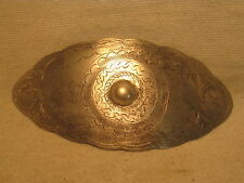 vintage ornate metal hair barret nice etched design