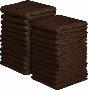Beauty Threadz - Pack of 24 Washcloths Premium Cotton 12x12, Face Towel 400 GSM