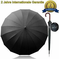 Royal Walk Windproof Umbrella Black Large 54 Inch Automatic Open for 2 Persons