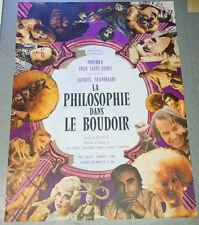 Affiche de cinéma : LA PHILOSOPHIE DANS LE BOUDOIR de Jacques SCANDELARI