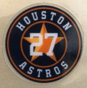 Jose Altuve Houston Astros 27 Bat Knob Decal